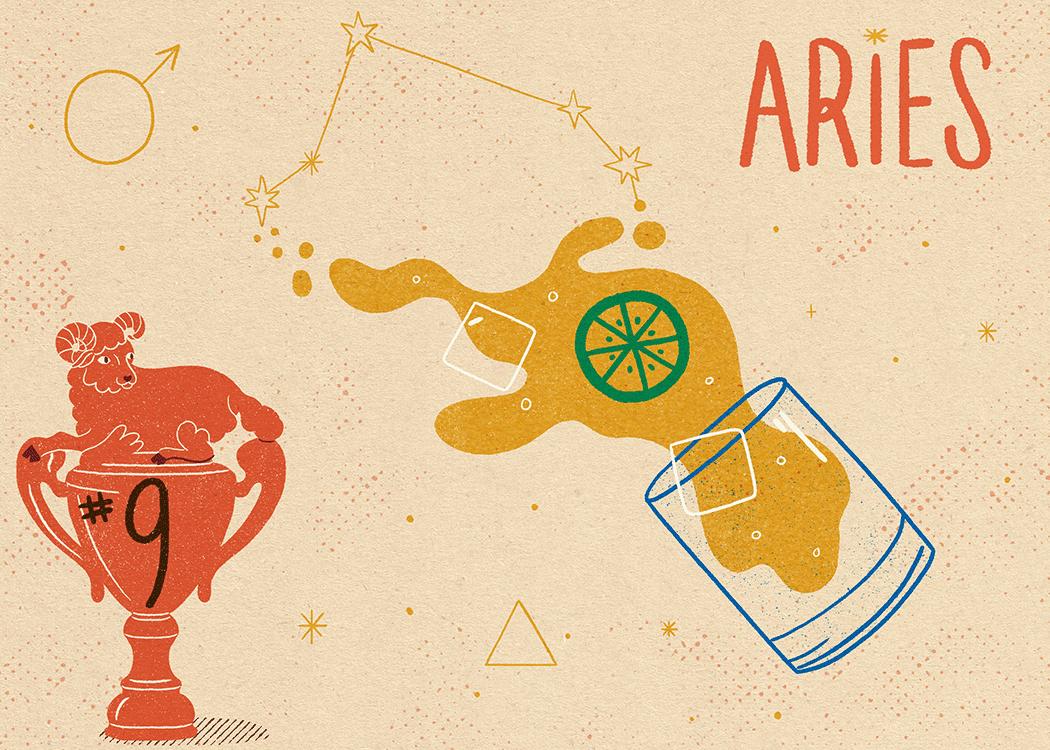 aries zodiac politeness illustration