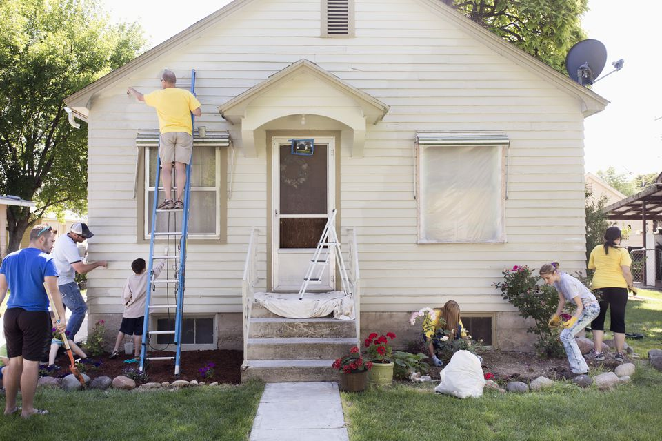 People painting house
