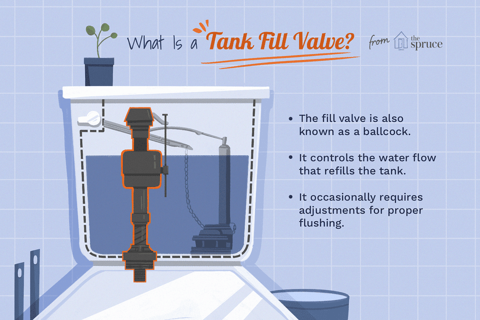 Illustration of a tank fill valve