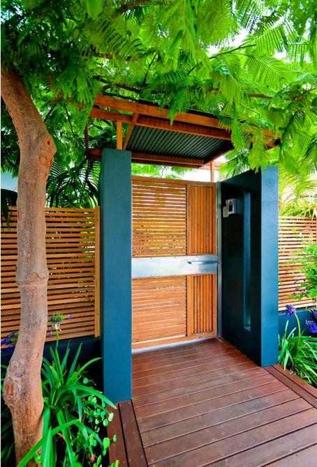 diseño de valla y puerta
