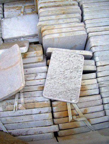 baldosas de piedra gris para pisos de patio