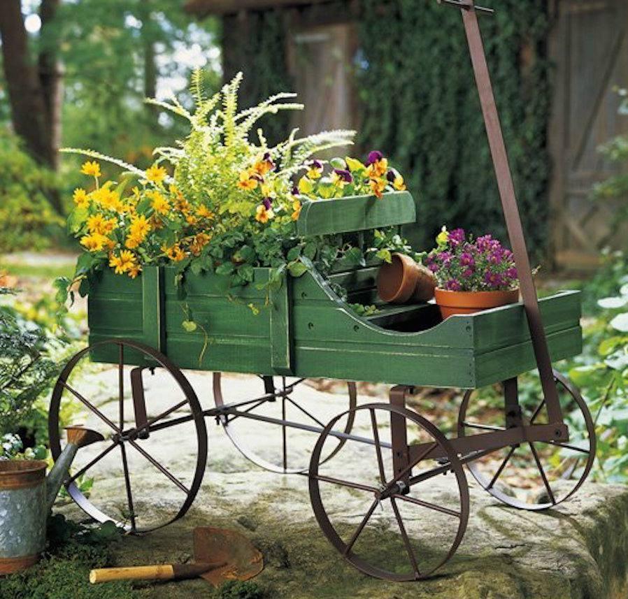 Jardín de carretilla