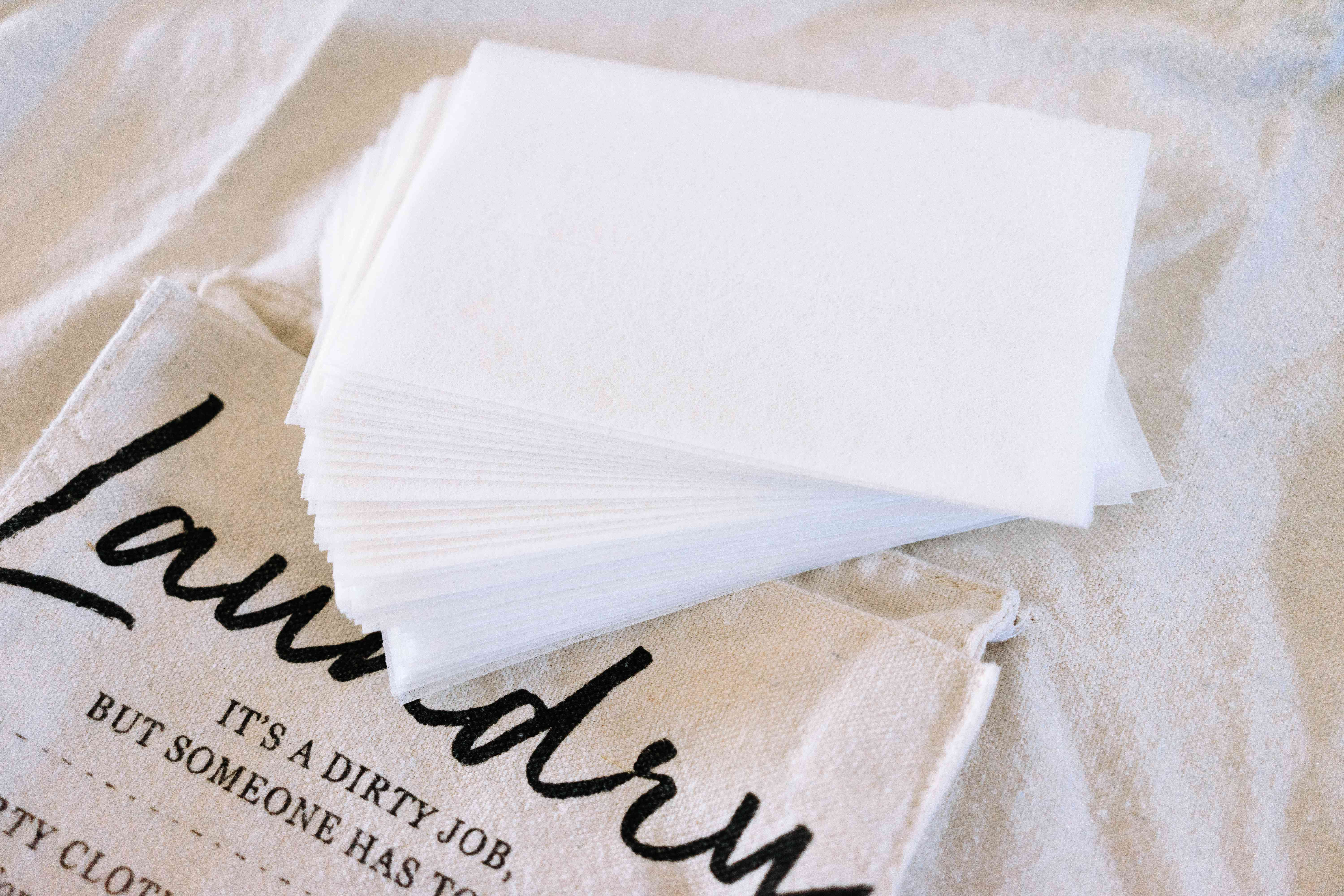 dryer sheets for dirty laundry during a trip