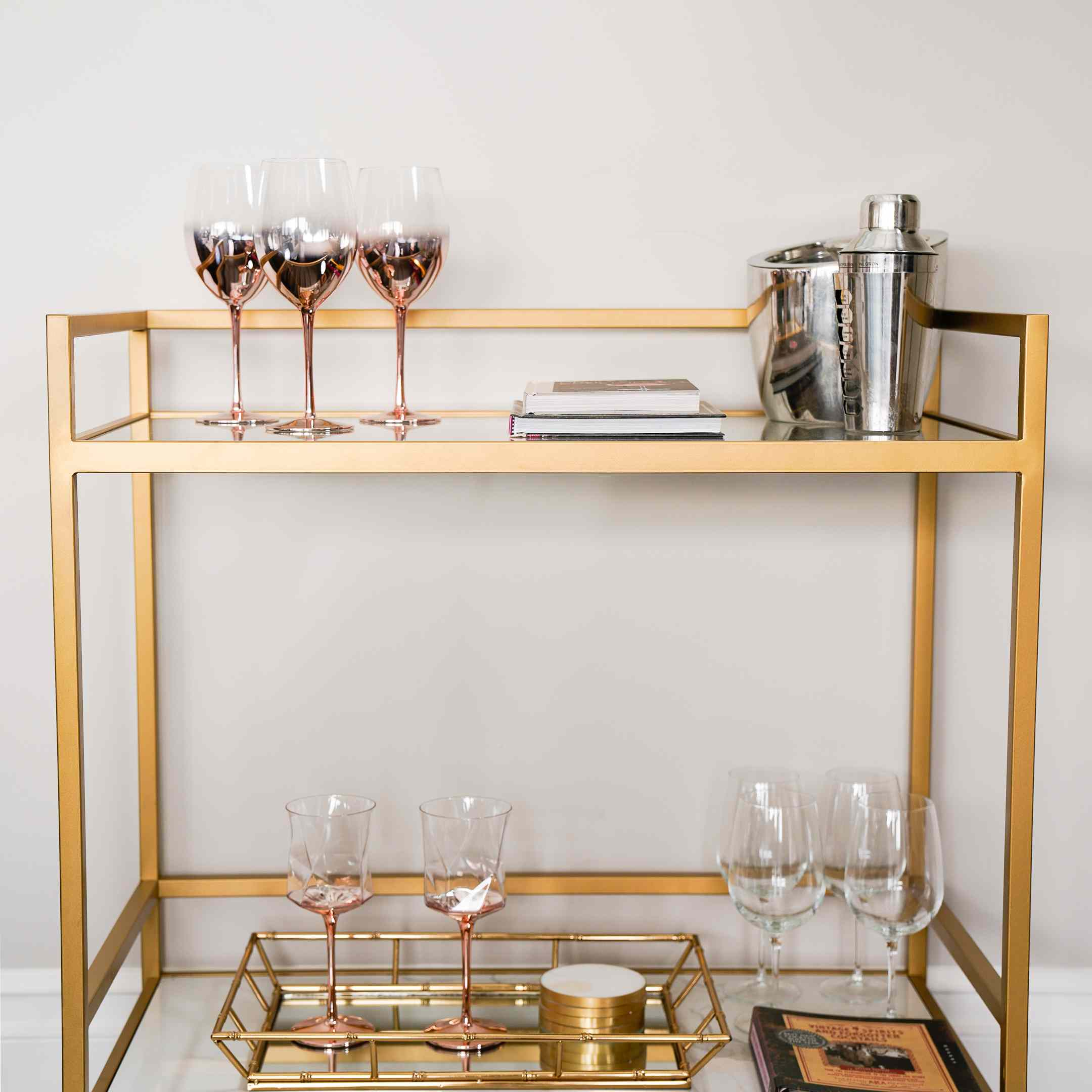 Chrishell Stause's new bar cart with all the accessories