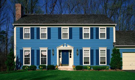 Dutch Boy Blue Exterior House Paint Color