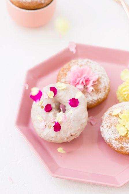 Rosquillas de flores comestibles