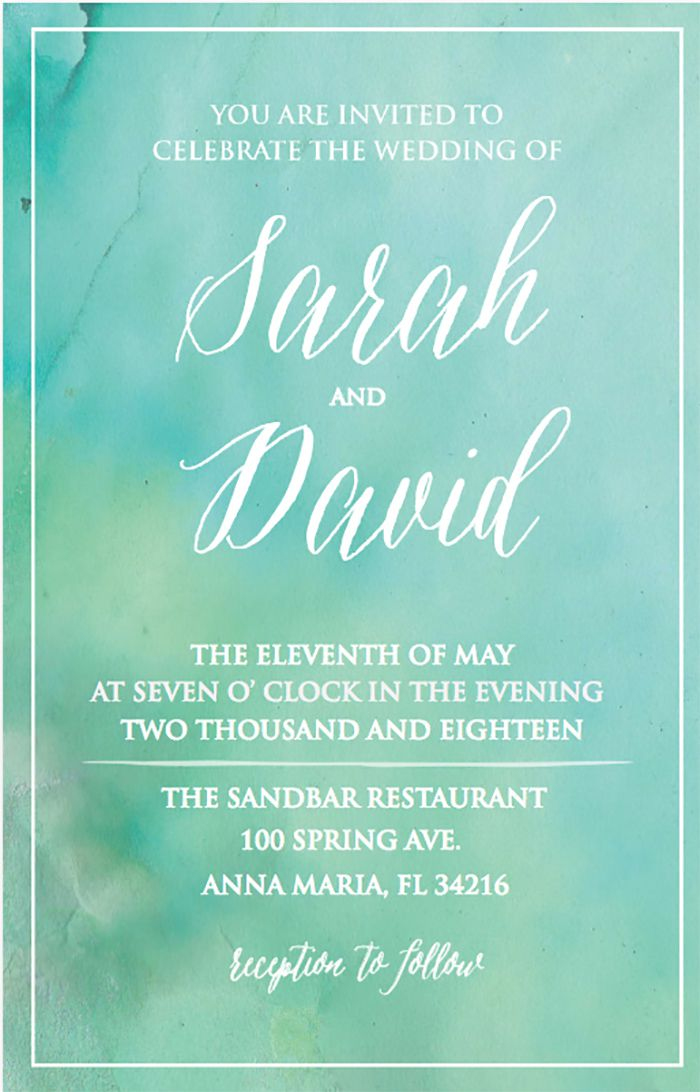 25 Free Printable Wedding Invitations