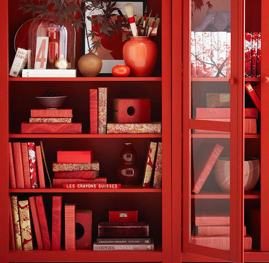 red color feng shui decorating fire element