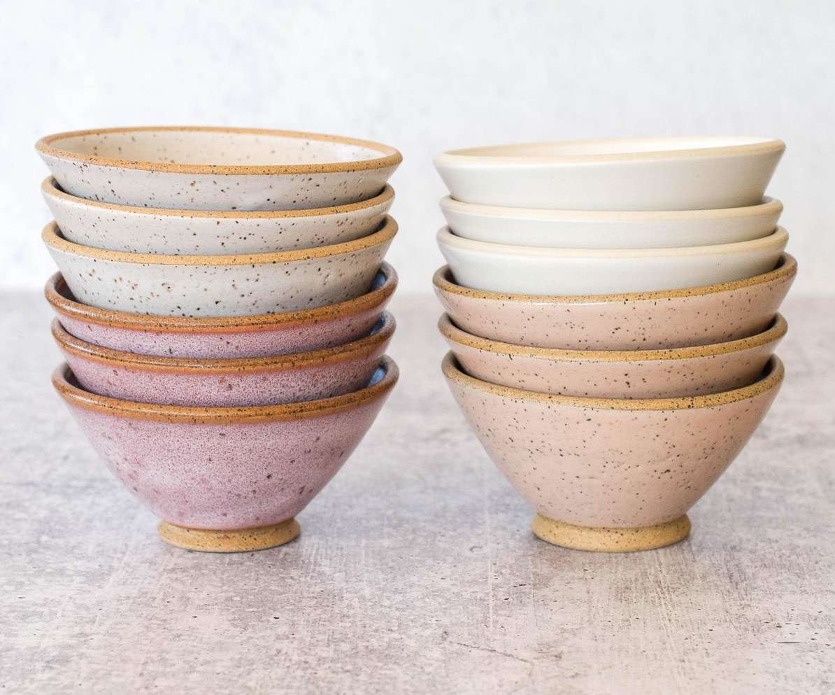 Little Angled Bowl by zzieeceramics