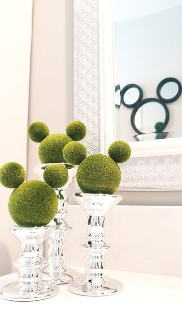 DIY Disney Nursery Mickey Mouse Topiaries