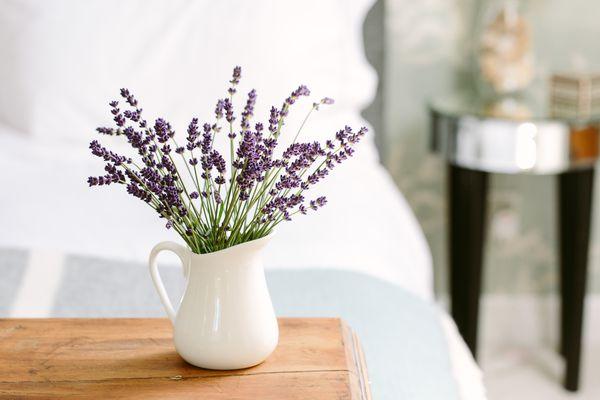 Vase of Flowers Guest Bedroom Table