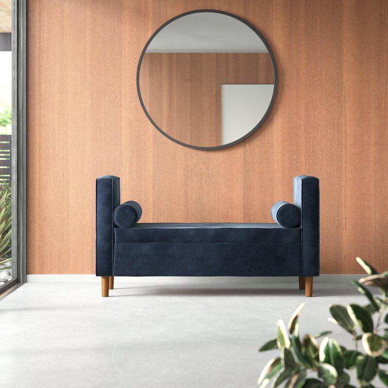 Bernadine Upholstered Flip Top Storage Bench
