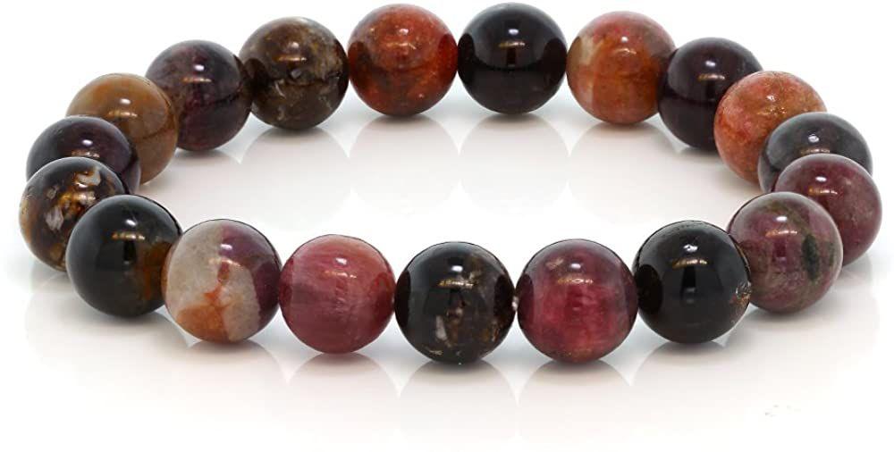 Gem Stone King Tourmaline Beaded Bracelet