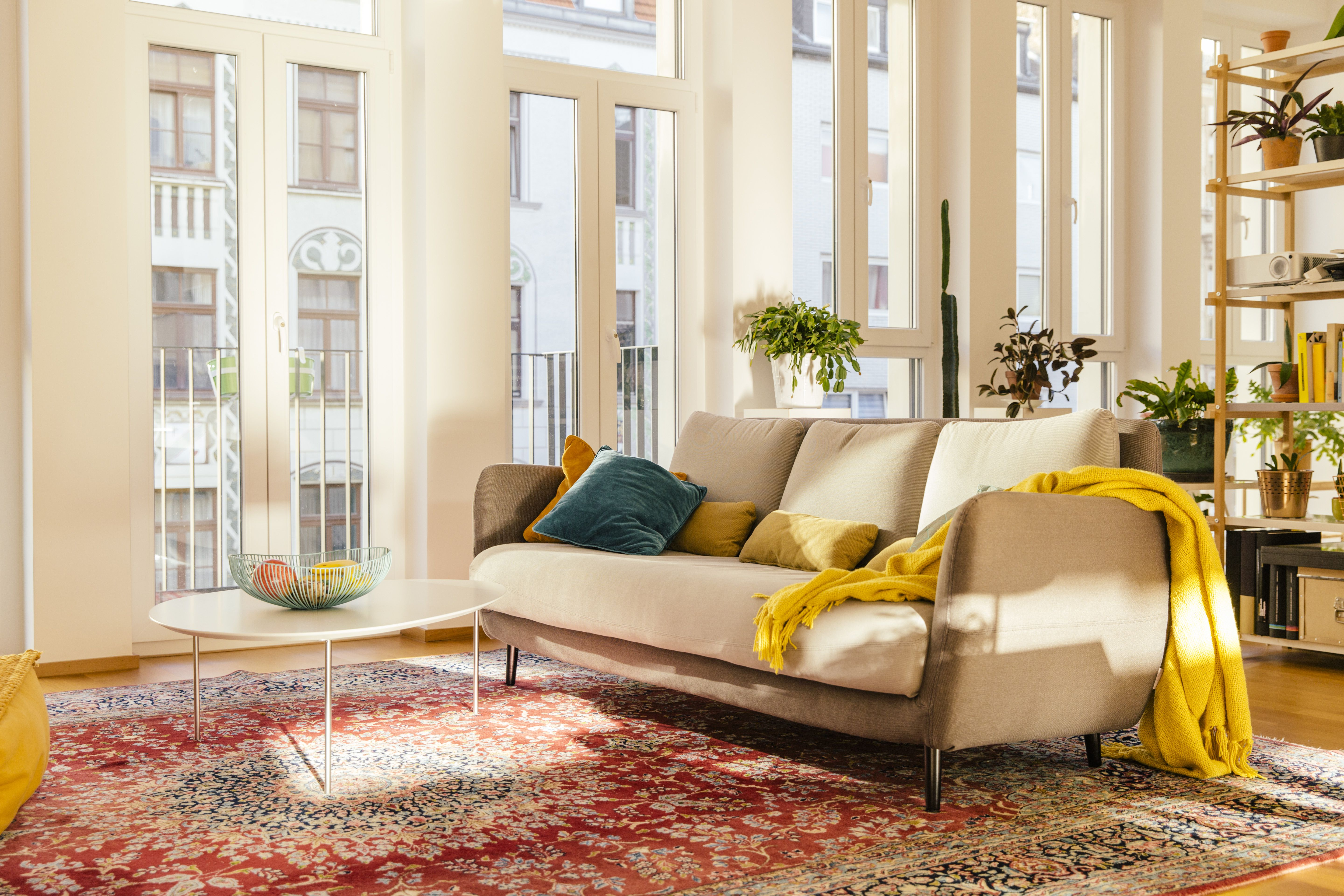 9 steps to picking the perfect color palette - Colorful rugs for living room ...