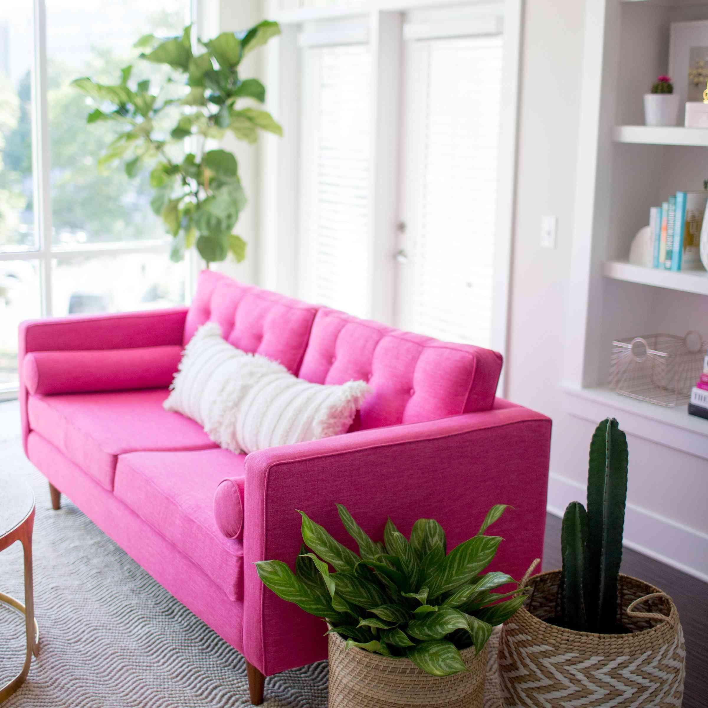 McKenna Bleu pink sofa