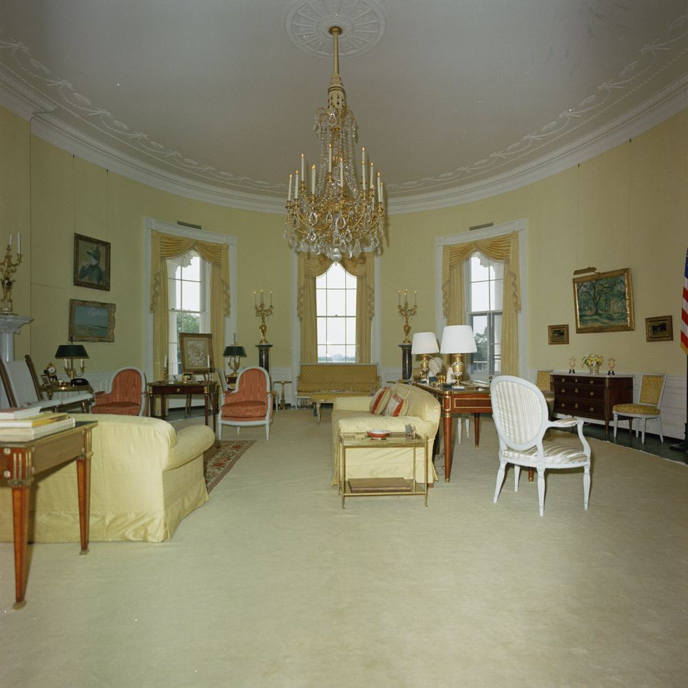 Kennedy White House Yellow Oval Room