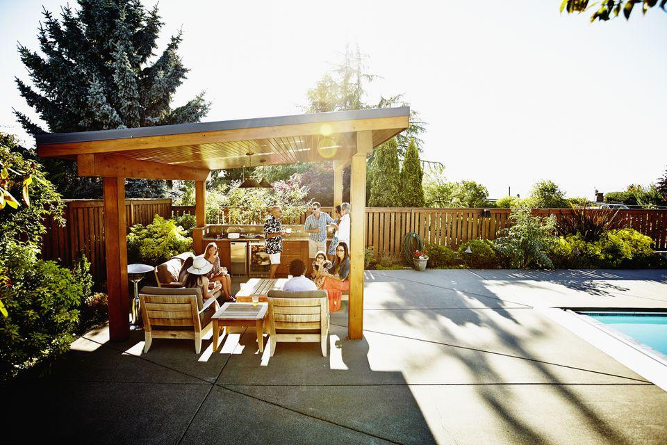 Backyard Pergola Near Pool