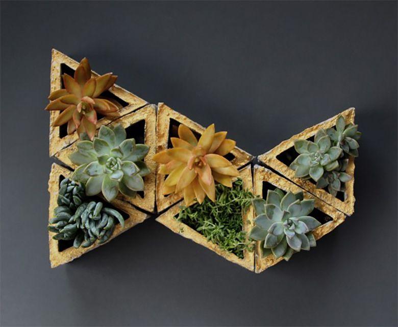 A geometric planter