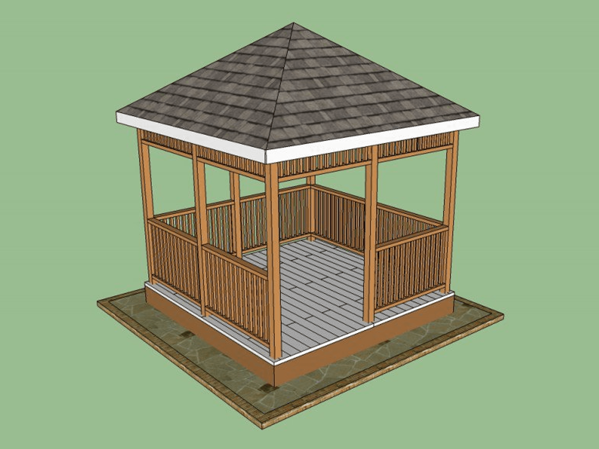Do It Yourself Home Design: 11 Free Wooden Gazebo Plans You Can Download Today
