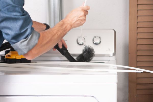 cleaning a dryer duct vent
