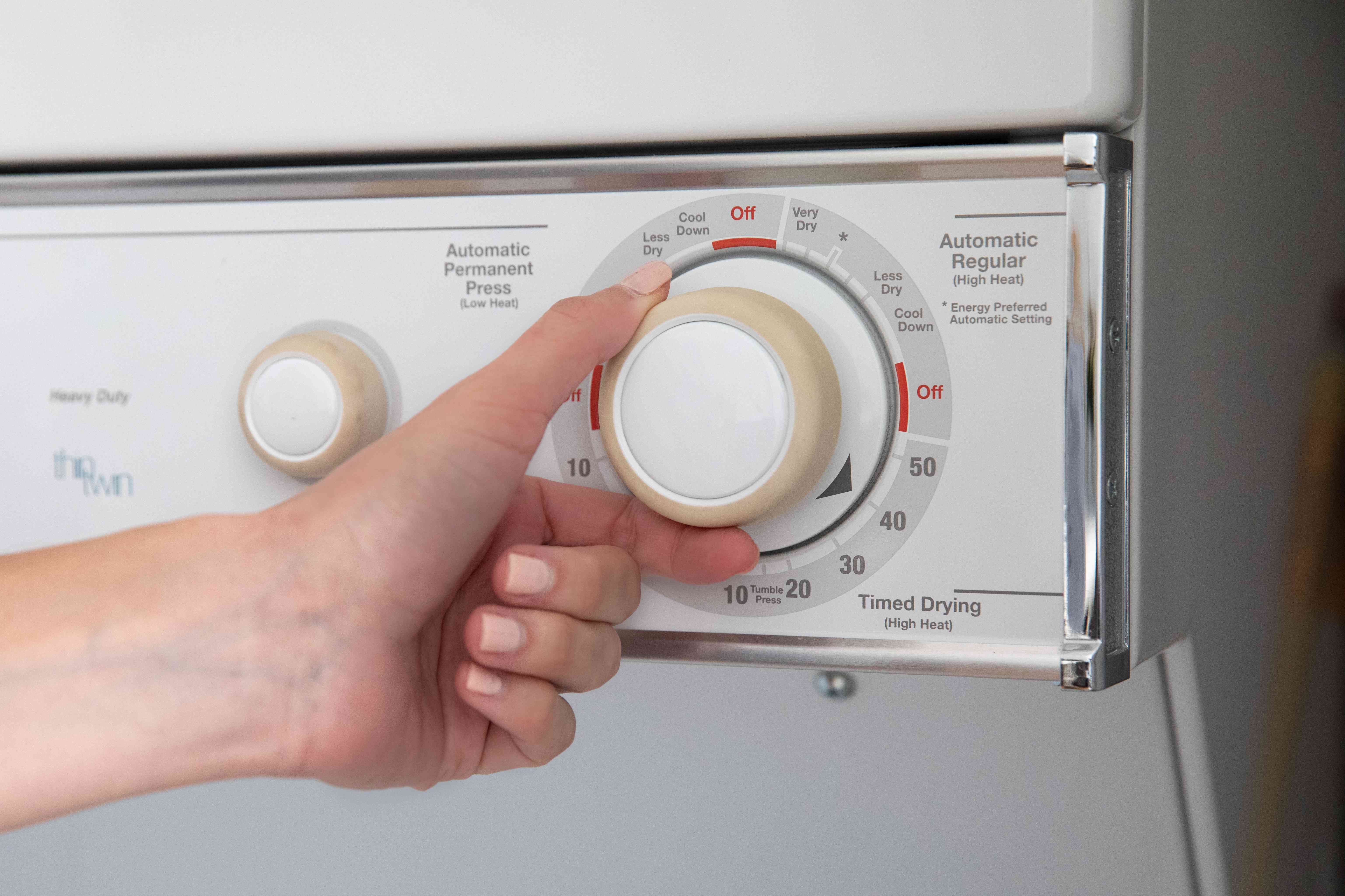 Dryer machine set to hottest temperature to kill bug infested clothes