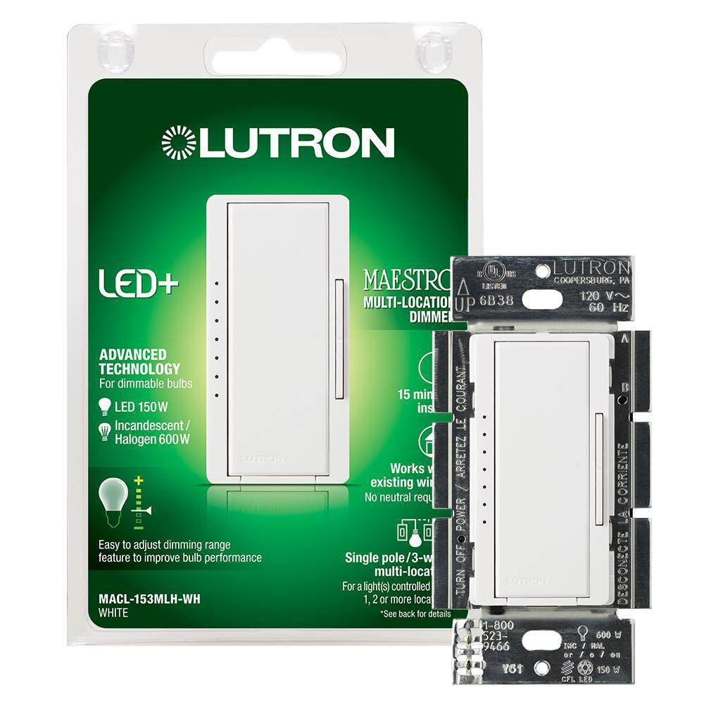 Lutron Maestro LED+ Dimmer Switch