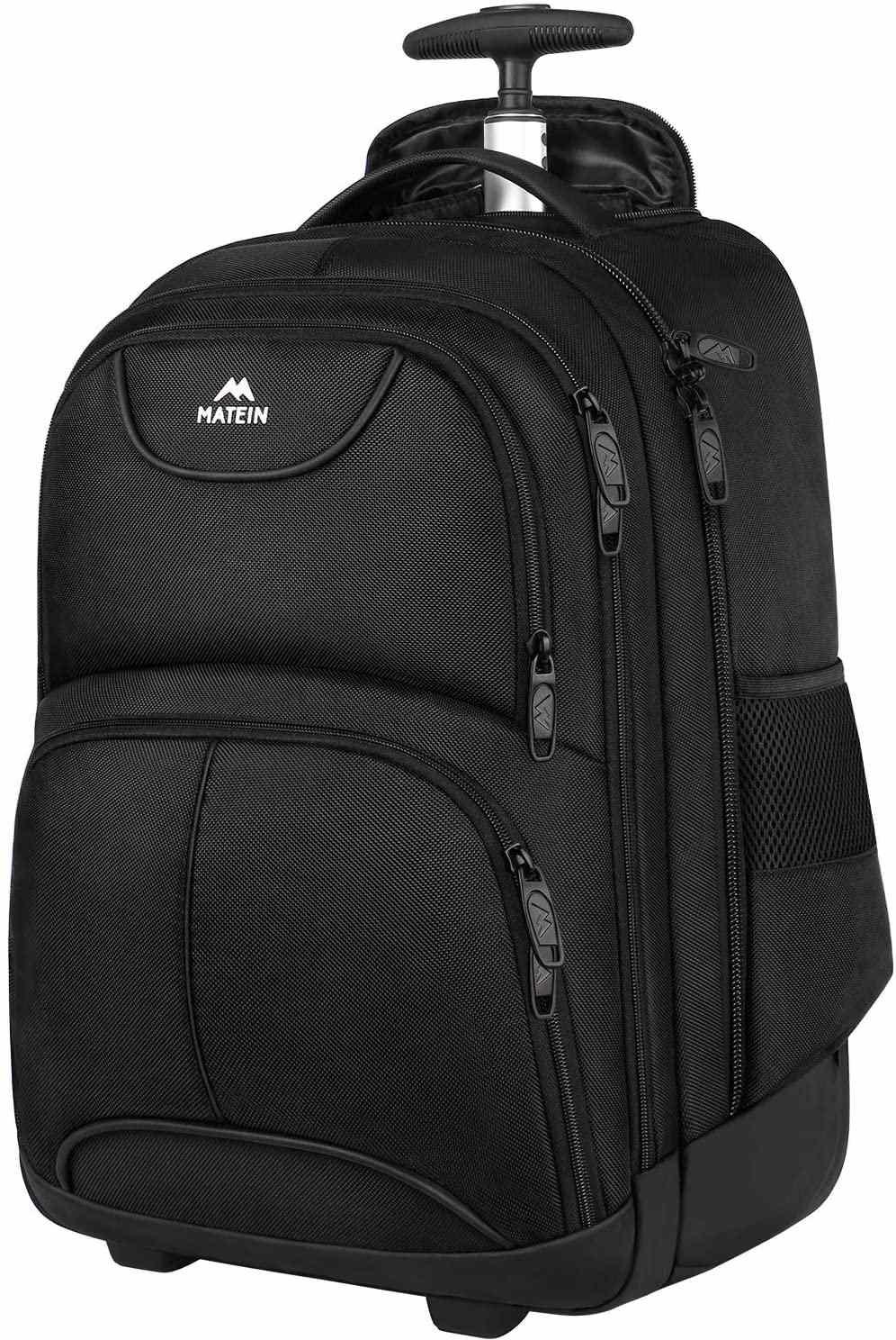 Matein Waterproof Rolling Backpack