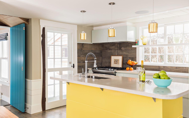 coastal yellow kitchen