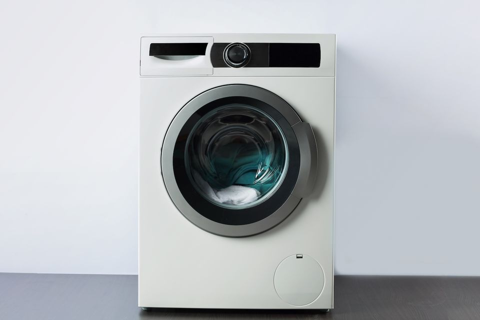 close up of washing machine