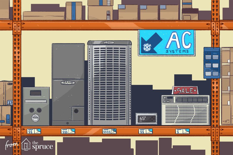 Illustration of AC units