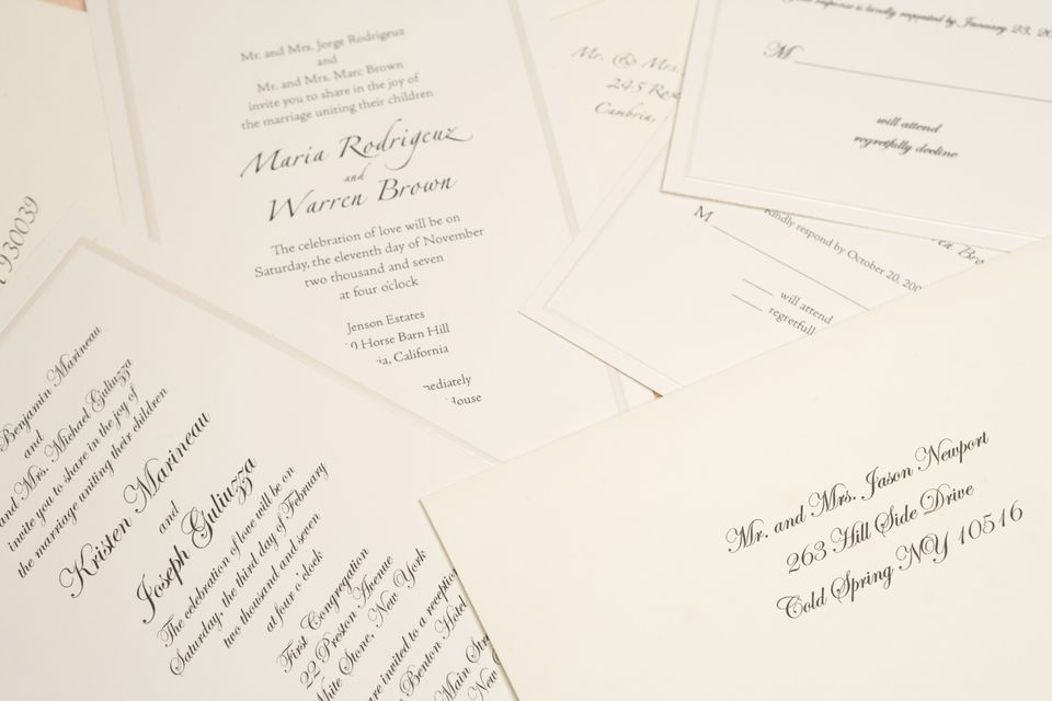 Wedding Invite Information: Basic Information Every Wedding Invitation Should Have
