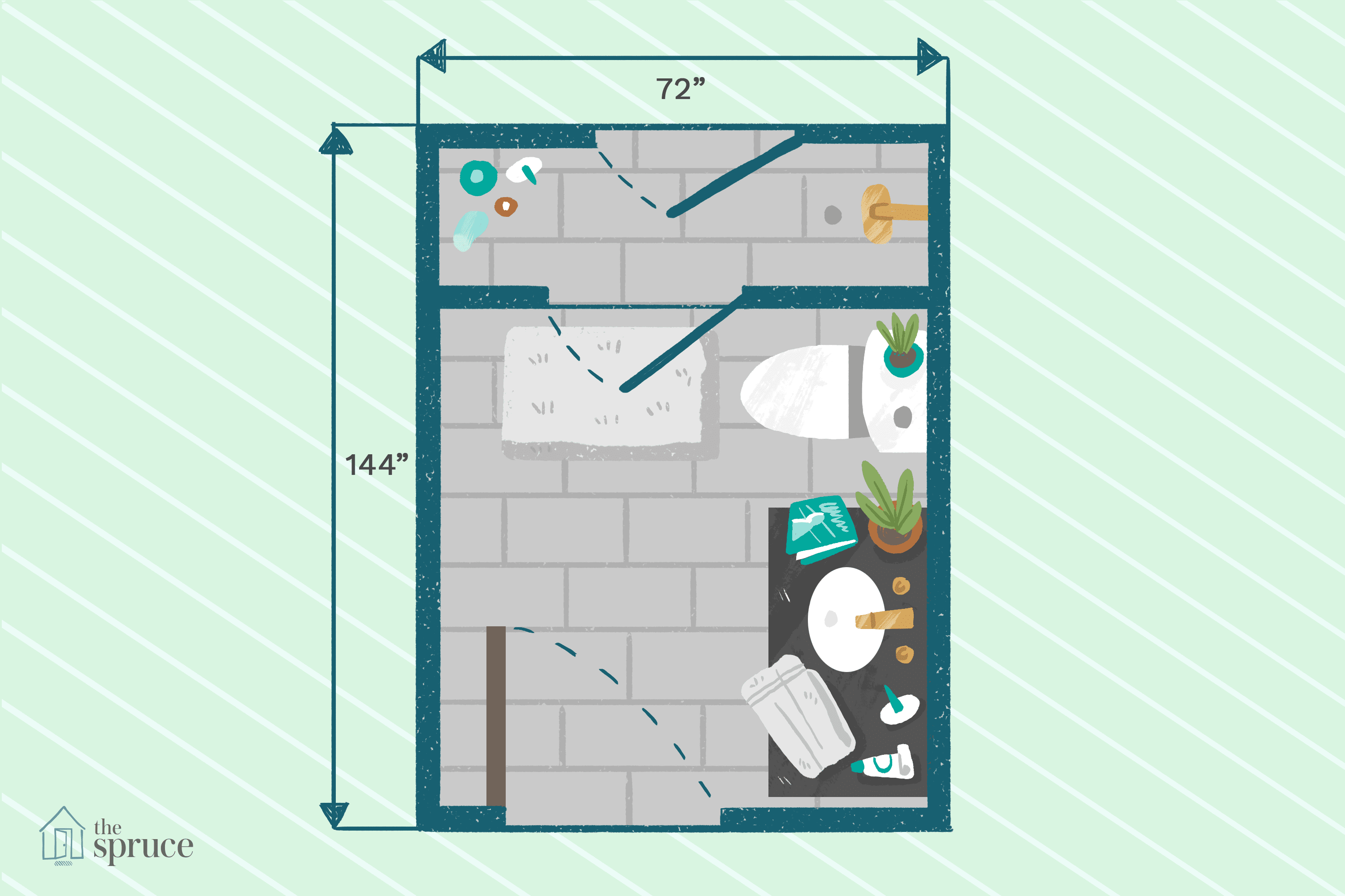 8x8 bathroom layout with shower