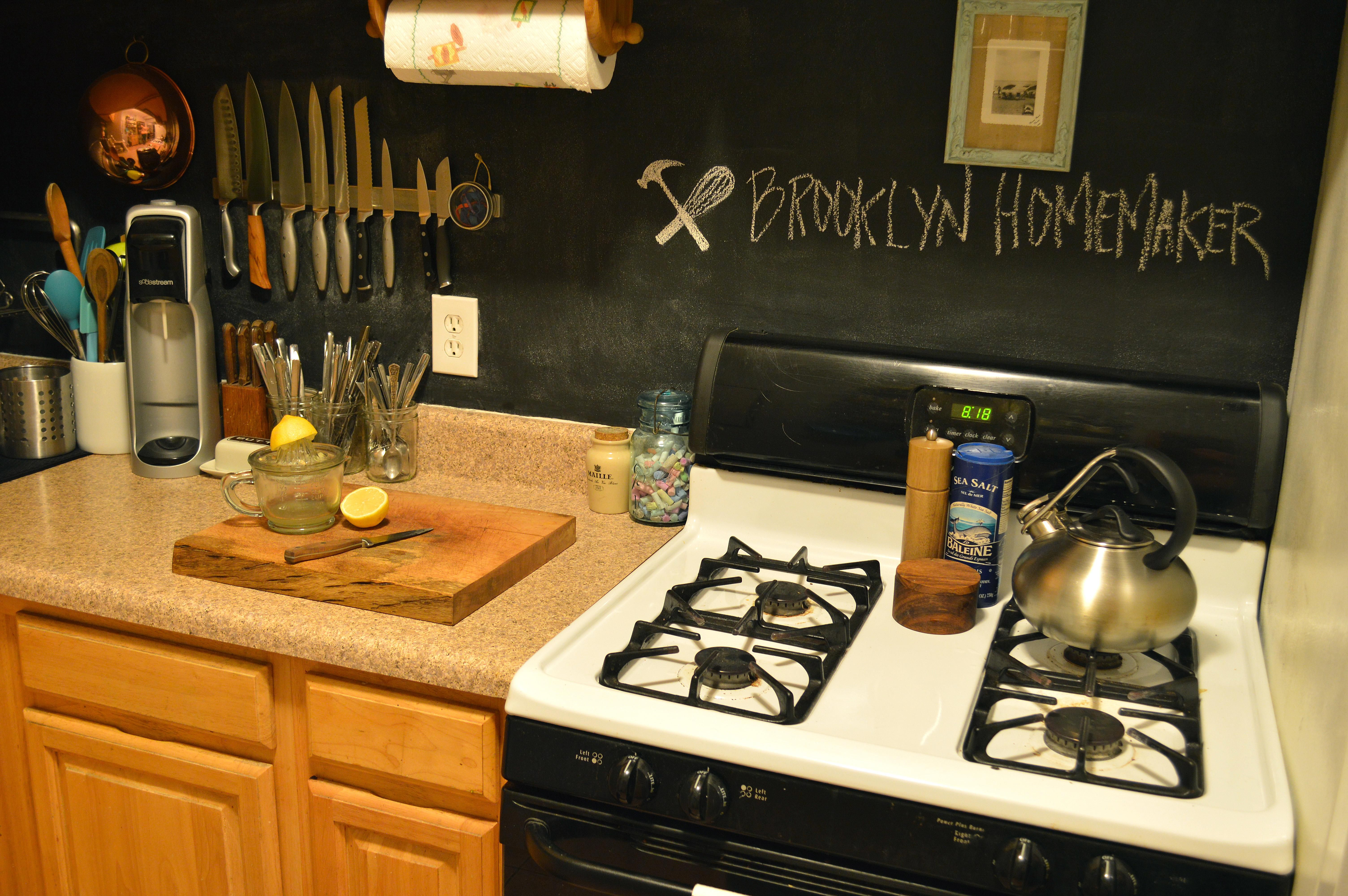 Chalkboard Kitchen Backsplash | 13 Removable Kitchen Backsplash Ideas