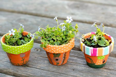 diy outdoor decor ideas colorful mini planters - Diy Garden Decor