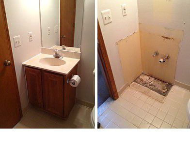 How To Remove A Bathroom Cabinet Vanity - Replacing bathroom vanity