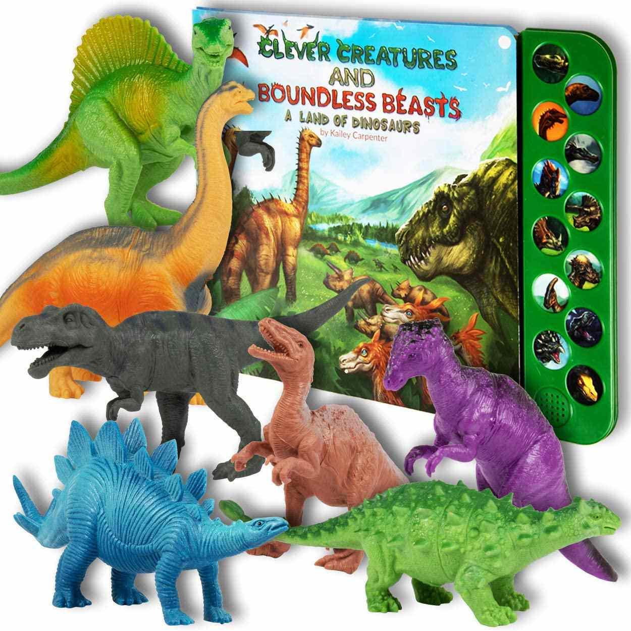Li'l-Gen Dinosaur Toys with Interactive Sound Book