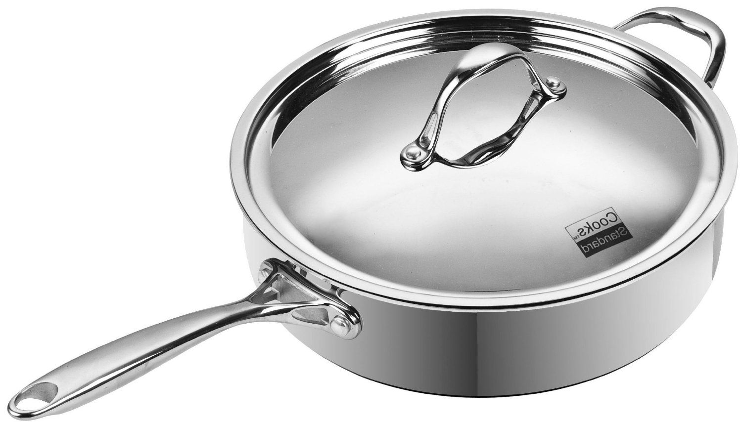 "Winco FPT3-8 - 8"" Fry Pan - Stainless Steel with Aluminum ... 