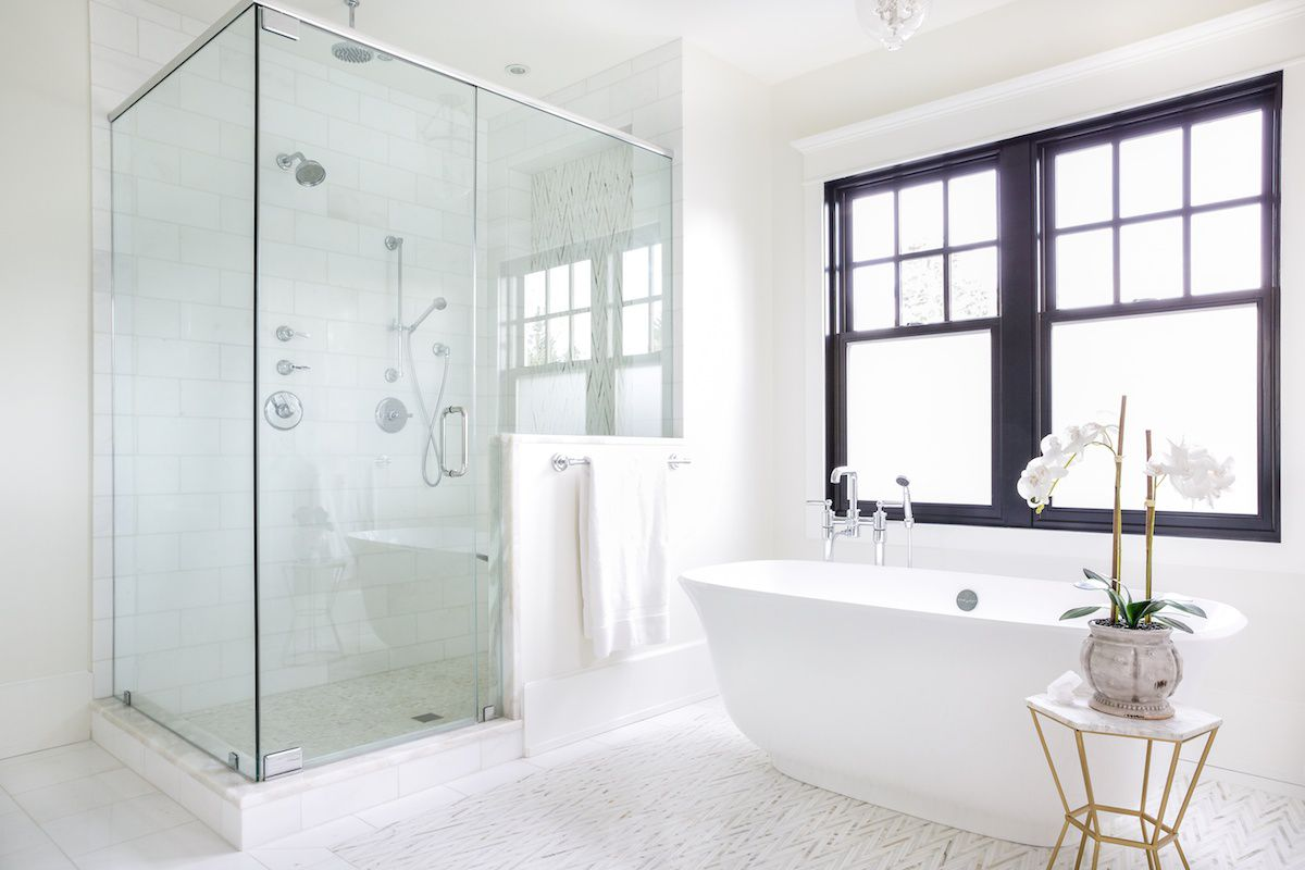 Bathroom with separate shower and tub
