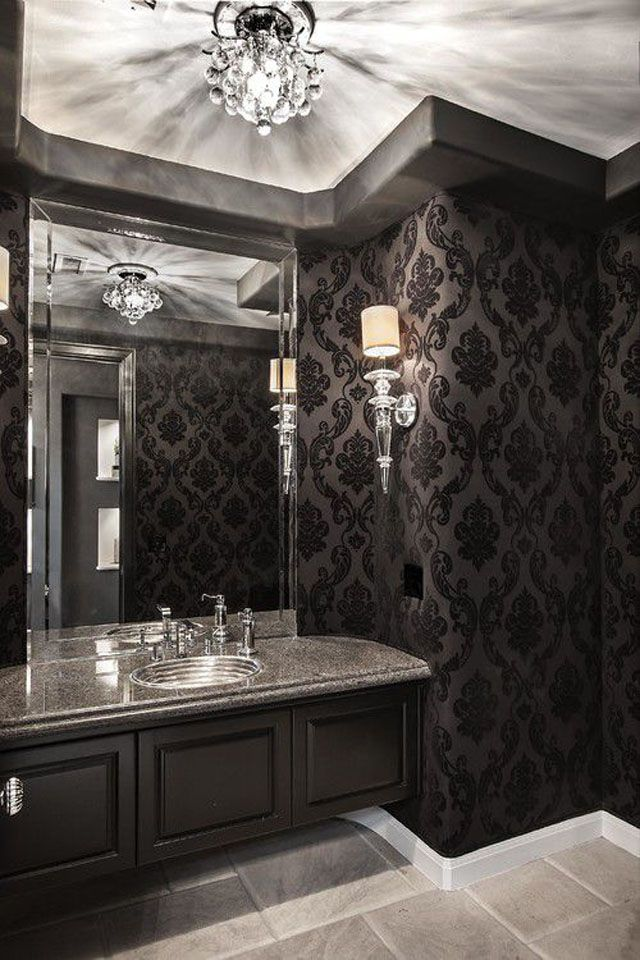 15 Beautiful Black Bathrooms