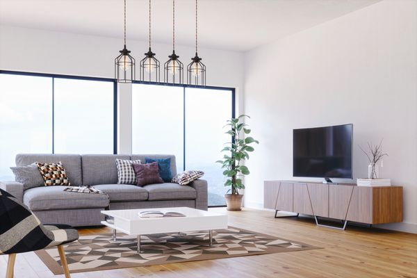 Modern, Bright And Airy Scandinavian Design Living Room