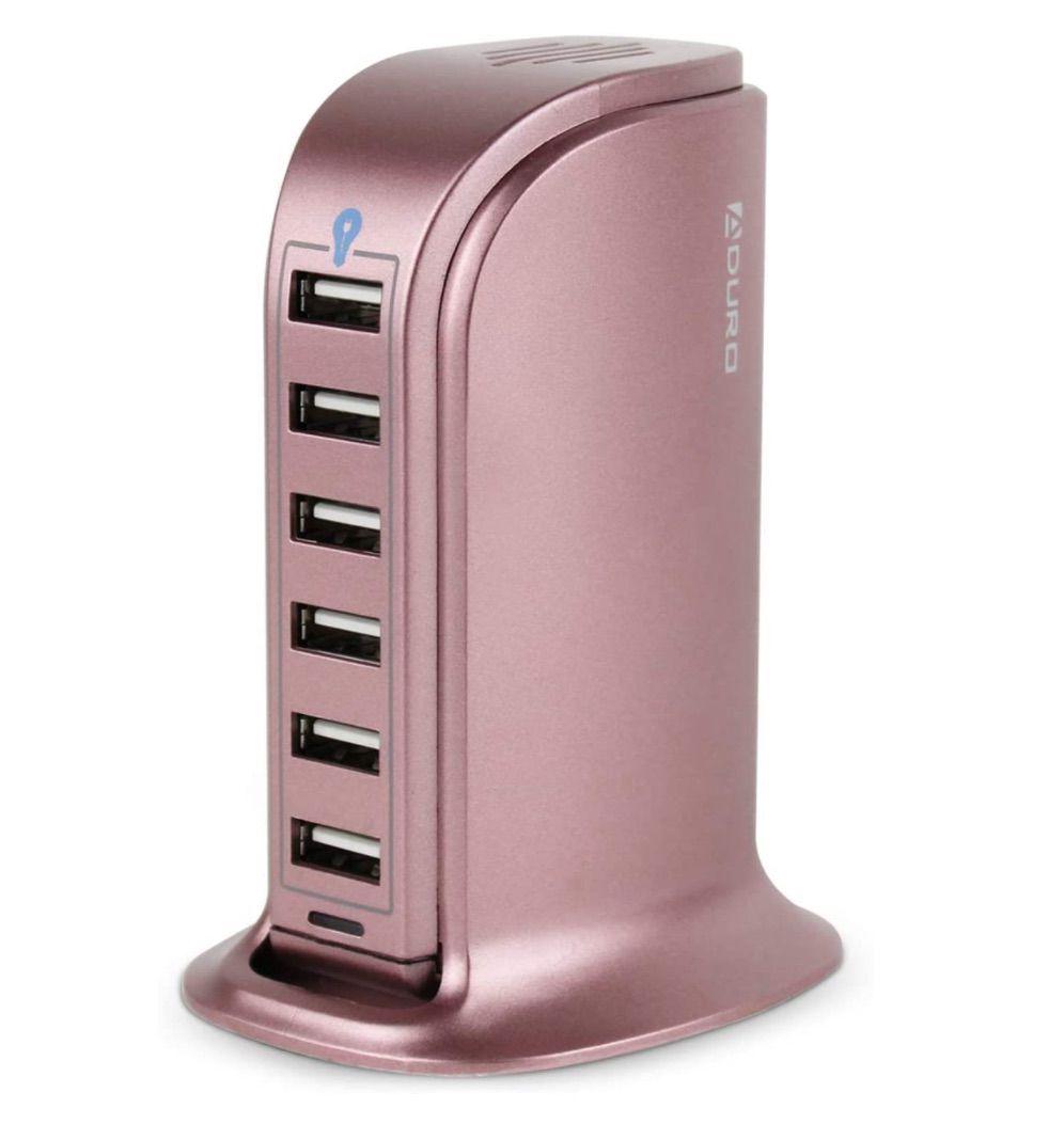 Aduro 40W 6-Port USB Desktop Charging Station