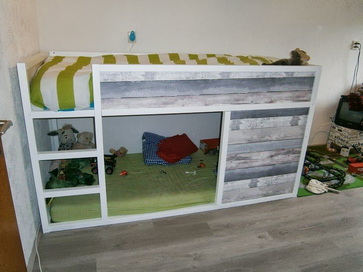 IKEA KURA Hack: Rustic Toddler Bed