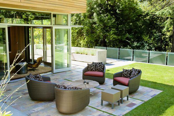 A beautiful tile patio