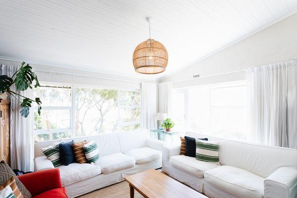 pendant light in a living room