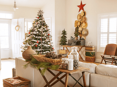 how to decorate for christmas with a theme - How To Decorate Living Room For Christmas