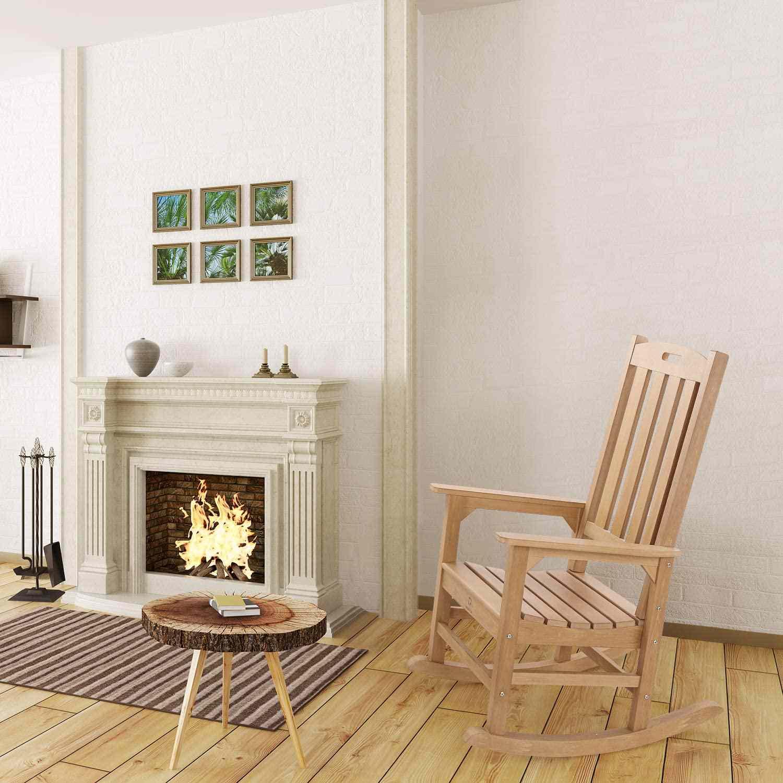 QOMOTOP Outdoor/Indoor Rocking Chair
