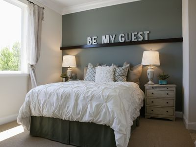 Interior of contemporary bedroom for guest
