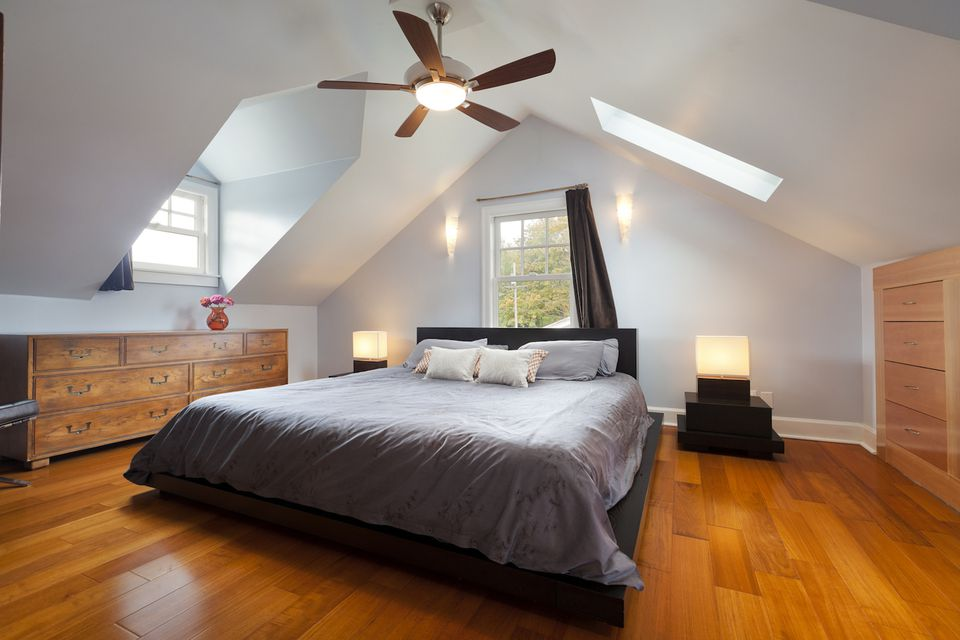 Master bedroom attic