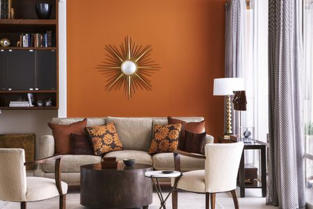 Living Room Orange Wall