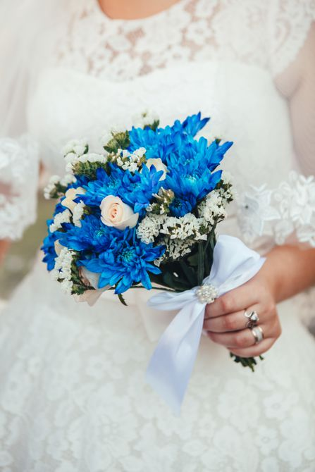 Ramo de novia azul de mamá